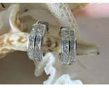 NEW Huggie Earrings~Hinged~18K White Gold & 36 Channel Set Diamonds~Perfect Gift