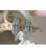 NEW Huggie Earrings~Hinged~18K White Gold & 36 Channel Set Diamonds~Perf... - $1,850.00