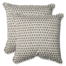 Pillow Perfect Outdoor Seeing Spots Sterling Throw Pillow, 18.5-Inch, Se... - $77.47