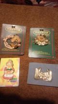 LOT OF 4 PINS 2 BOYDS BEARS FOLKWEAR RABBIT DOGGIE ANGEL COOK GOLD JESUS - $9.75