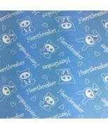 Skelanimals Flannel Fabric Heartbreaker Baby Blue 4 Yards David Textiles - $20.74