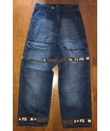 VTG 90s Francois Marithe Girbaud Brown Shuttle Strap Hip Hop Denim Jeans... - $40.37