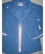 BIKE Jacket Zip Front Reflective Stripe Pockets Stand Collar Track Mesh ... - $19.75