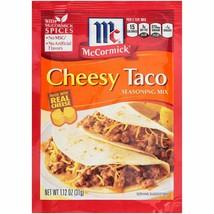 McCormick Cheesy Taco Seasoning Mix 4 Packs Best By 7/12/2022 - $12.99