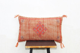 Moroccan Silk Inspired Pillow Cover Cactus Silk Hand made Linen Cushion ... - $30.00