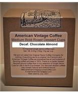Decaf. Chocolate Almond Dessert Coffee 10 Medium Bold Roasted Coffee K-Cups - $10.41