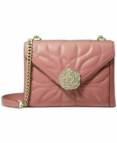 NWT MICHAEL KORS  WHITNEY LARGE PETAL QUILTED LEATHER CONVERTIBLE SHOULDER BAG