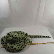 "Wild Republic Spotted STINGRAY Green MANTA Plush Stuffed Fish Ocean Toy 20"" - $12.19"