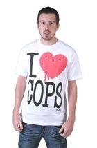 Tavik USA Mens Black White Piggy I Love Hate Cops Police Brutality T-Shirt NWT image 6