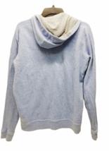 Vince Women Blue Gray Zip Up Hoodie Hood Sweatshirt Sz Medium  image 4