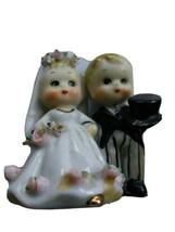 Lefton China Married Couple Newlyweds Bell Honeymoon Japan Made Figurine  - $29.70