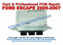 2005-2007 Ford Escape Fast Engine Computer Misfire Repair Service. Ecu Pcm Ecm - $148.50