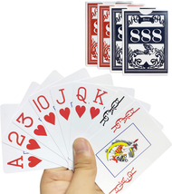 Plastic Playing Cards Jumbo Index Waterproof Fits Bridge Poker, Go Fish,... - $21.83
