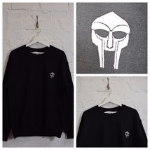Actual Fact Doom Embroidered Badge MF Doom Black Crew Neck Sweatshirt Top - $41.66