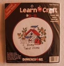 NEW Dimensions Learn A Craft Cross Stitch Kit Cheep Rent Home Tweet Home 72315 - $9.99