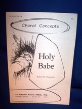 Vintage Sheet Music & Lyrics Holy Babe Piano & Voice 1976 - $5.50