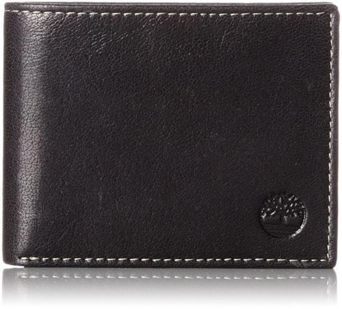 New Timberland Men's Premium Genuine Leather Commuter Wallet Black D11387/08