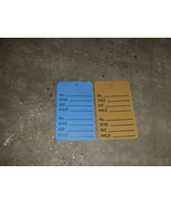 "1000 Holes No String 2-Piece Garment Merchandise Price Tags 1 3/4"" x 2 7... - $24.99"