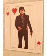 Elvis Presley 8x10 King Of Hearts Playing Card 70s Elvis - $12.86