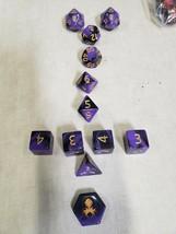 Kraken Dice 12 Piece Set- purple and black marble - $18.05