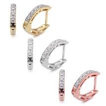 14K Gold .05 CTW Diamond Huggie Hoop Earrings in Yellow, White or Rose G... - $249.99