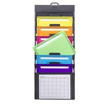 Smead Cascading Wall Organizer, 6 Pockets, Letter Size, Gray/Bright Pock... - $14.82