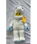 "NEW 2021 Lego ICONIC 17"" Plush White Unicorn Girl Doll Mini figure Sewn ... - $22.99"