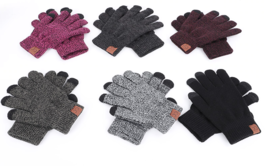 Knit Gloves Warm Mittens Plus Velvet Thicken Gloves for touch screens Wo... - $21.15 CAD