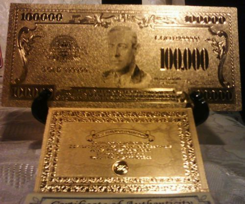 <US SELLER>25Pc.MIXED Size & Style RINGS+MINT GOLD$100K Banknote W/COA~QUI