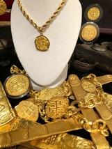 ATOCHA NEW GOLD PENDANT 2 ESCUDOS 24KT  DOUBLOON SHIPWRECK TREASURE JEWE... - $899.00