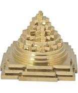 Auspicious Shree Meru Maha Yantra- Brass Made , 10 Cm X 10 Cm X 9 Cm - $21.32