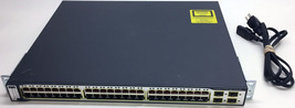 Cisco Catalyst 3750 PoE-48 - WS-C3750-48PS--S V08 - $49.99
