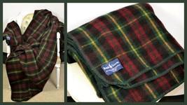 "Rare Ralph Lauren premium wool plaid blanket made in Scotland 70"" x 90"" - $846.65"