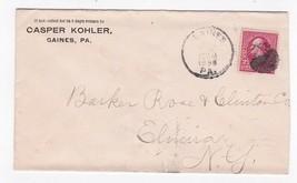 CASPER KOHLER GAINES PA 1898 - $2.98
