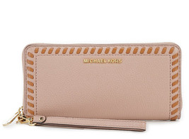 Michael Kors Lauryn Travel Continental Leather Wallet Fawn New NWT $178 - $102.96