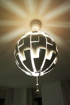 "IKEA PS 2014 FANTASTIC PENDANT LAMP 14 "" DIAMETER WHITE, COPPER COLOR - $89.09"