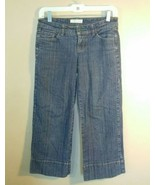Tommy Jeans Womens Straight Leg Cuffed Cropped Denim Blue Jeans Juniors 3  - $14.85