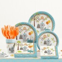 Party Time Happi Woodland Boy 1st Birthday Party Supplies Kit Theme Deco... - £34.93 GBP