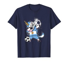 New Shirts - Dabbing Unicorn Argentina Football Cup 2018 Soccer T Shirt Men - $19.95+