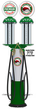 Double Visible Gas Pump Reproduction Laser Cut Out Of Metal 11x36 - $49.50