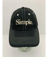 Vintage Simple Shoe Brand Hat Black with White Detail Stitch Snapback Cap - $31.14