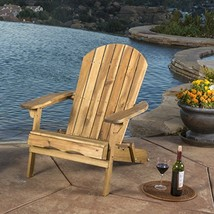 GDF Studio Halley Outdoor Reclining Wood Adirondack Chair with Footrest ... - $121.86