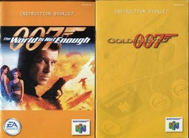 007 Goldeneye & The World is Not Enough N64 Nintendo 64 Instruction Manual Only! - $5.93