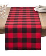 Fennco Styles Buffalo Plaid Check Classic Cotton Blend Tablecloth - $27.99