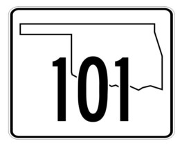 Oklahoma State Highway 101 Sticker Decal R5679 Highway Route Sign - $1.45+