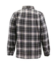 Men's Casual Flannel Button Up Plaid Fleece Warm Sherpa Lined Lightweight Jacket image 10