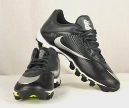 Nike Air fast flex men's low football cleats gray black - $26.90+