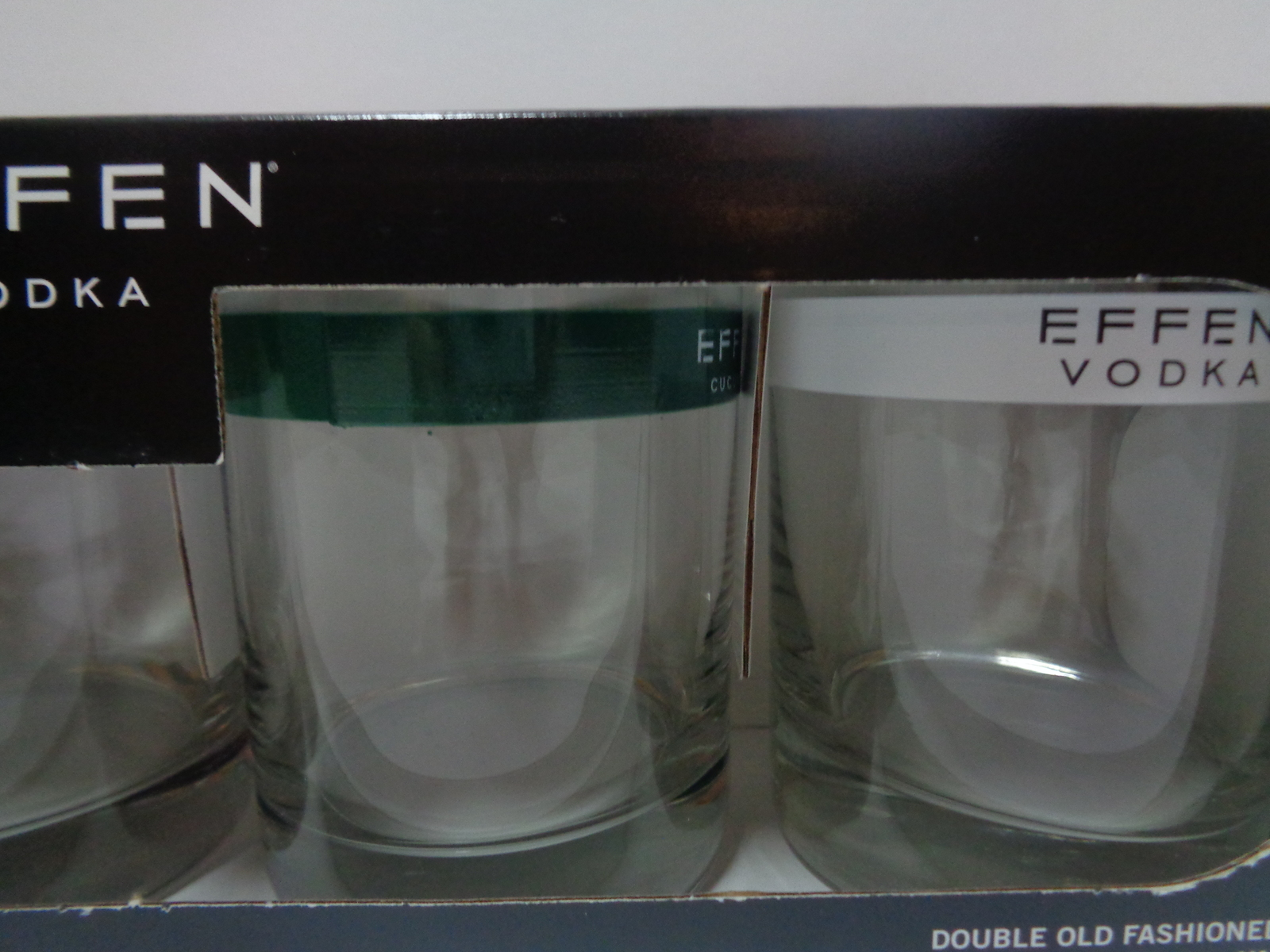 Effren Vodka Double Old Fashioneds Glasses NIB Made in USA Set 4