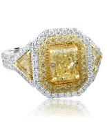 Radiant Brilliant Diamond 2.76 Ct Yellow VS1 GIA Engagement Ring 18k Whi... - $6,130.63