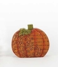 "Roman 6"" Thanksgiving Autumn Harvest Orange Pumpkin Decor with Verse - $16.57"